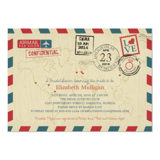World Traveler Airmail | FLORIDA Bridal Shower Card