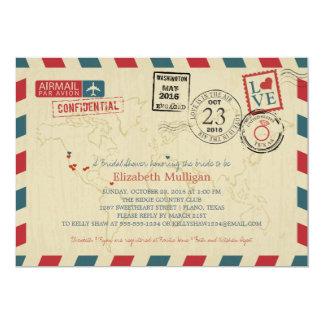 World Traveler Airmail | TEXAS Bridal Shower Card