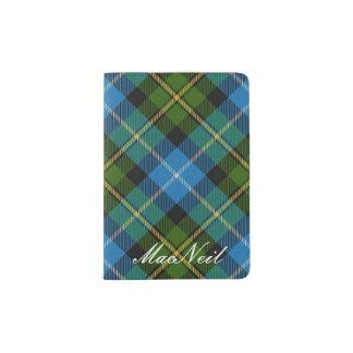 World Traveler Clan MacNeil Tartan Plaid Passport Holder