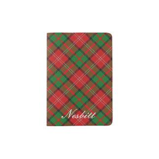 World Traveler Clan Nisbet Tartan Plaid Passport Holder