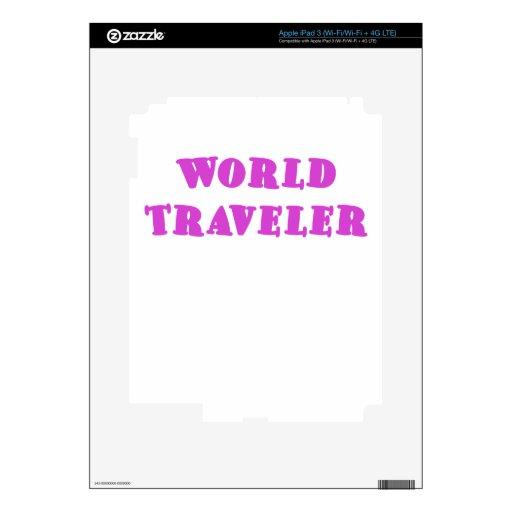 World Traveler Decals For iPad 3
