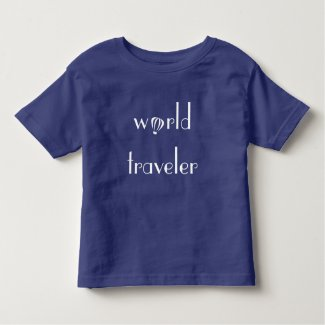 World Traveler Logo Toddler Tee