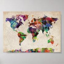 world traveler map print
