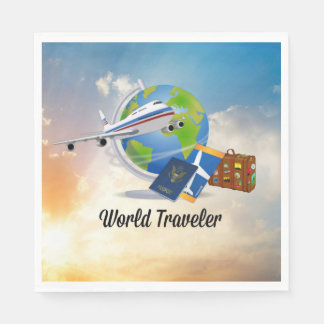 World Traveler Paper Napkin
