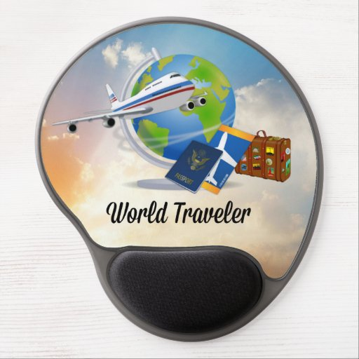 World Traveler, popular design, Gel Mouse Pad