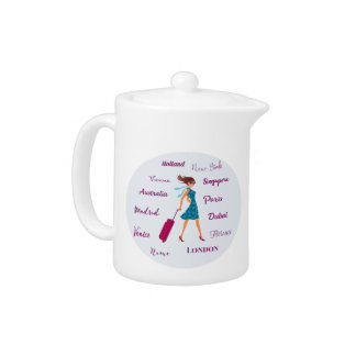 World Traveler Teapot