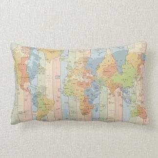 World Traveler Time Zones of Europe and Africa Lumbar Pillow