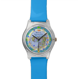 World Travelers Time Zone Wristwatches