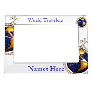 World Travelers Vacation Memories Fridge Gallery Magnetic Frame