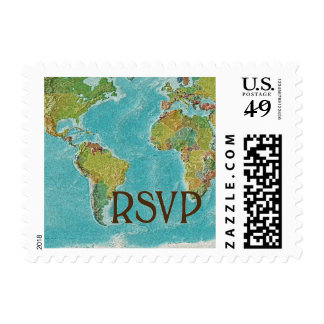 World traveller RSVP Postage