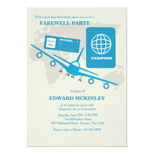 Invitation Card Of Farewell Party | Ilcastello