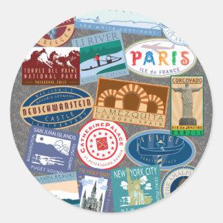 World Traverler-Sticker