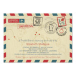 World Travler Airmail | Bridal Shower Card