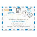 "World Travler Airmail | Bridal Shower 5"" X 7"" Invitation Card"