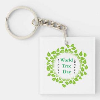World tree day june 28 keychain