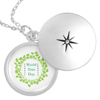 World tree day june 28 locket necklace