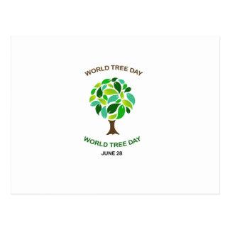 World tree day june 28 postcard
