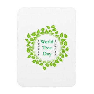 World tree day june 28 rectangular photo magnet