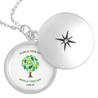 World tree day june 28 silver plated necklace