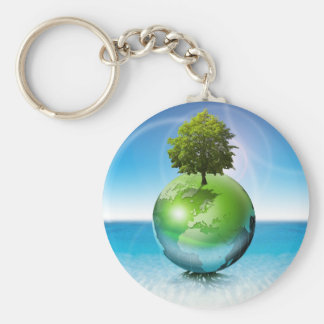 World tree -  ecology concept keychain