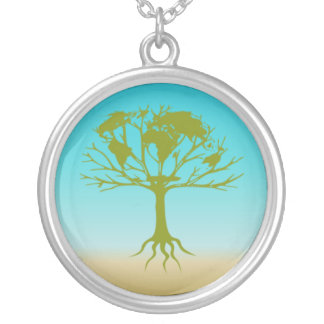 World Tree Silver Plated Necklace