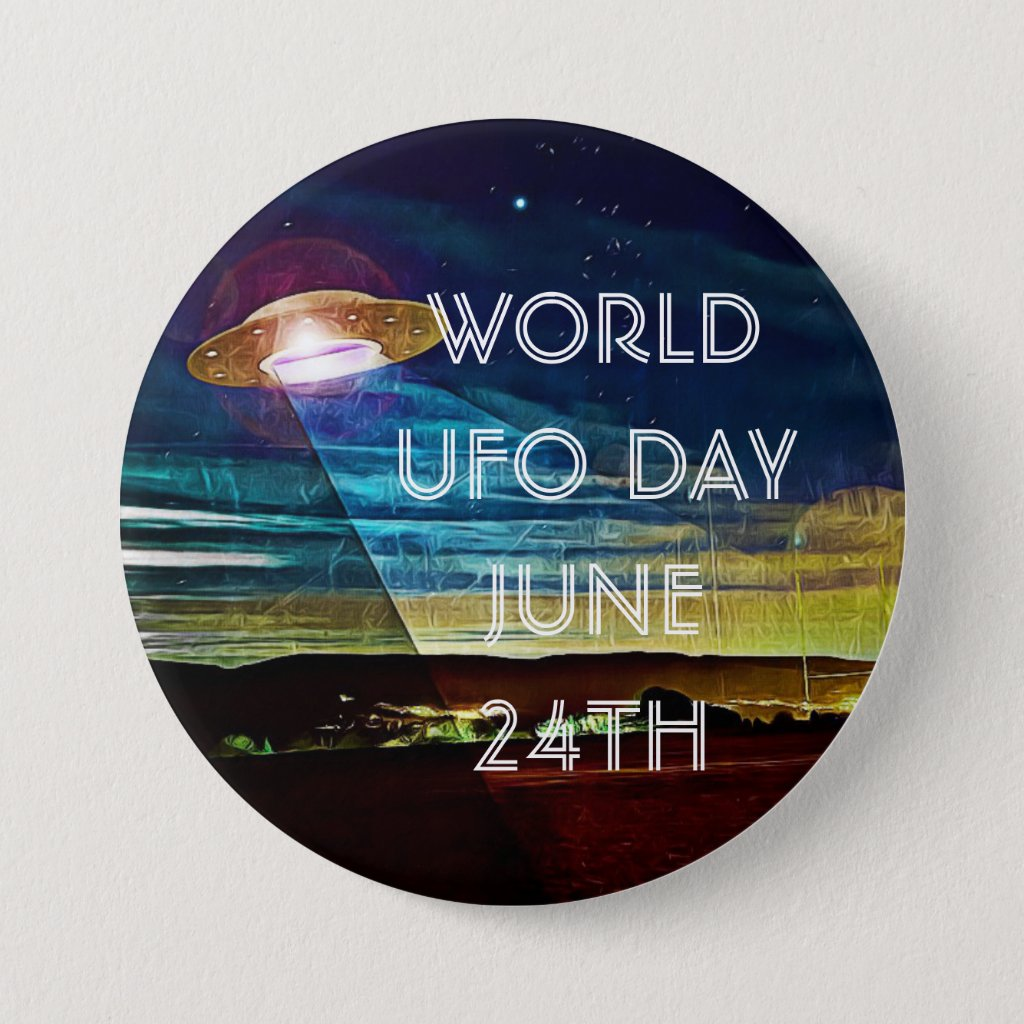 World UFO Day Button