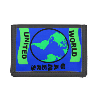World United Gamers classic tri-fold nylon wallet