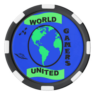 World United Gamers Clay Poker Chips