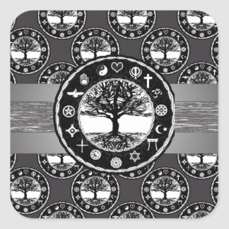 World Unity Tree of Life Square Sticker