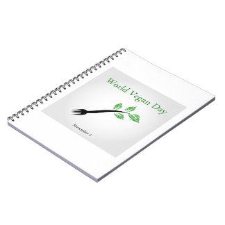 World vegan day notebook