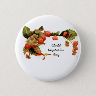 World vegetarian day-button pinback button