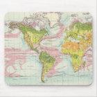 World vegetation & ocean currents Map Mouse Pad