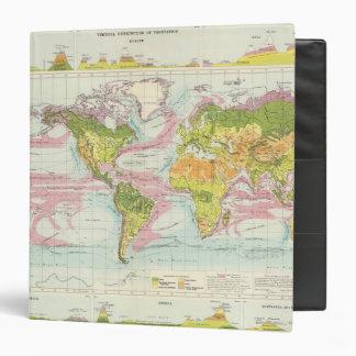 World vegetation & ocean currents Map Vinyl Binders
