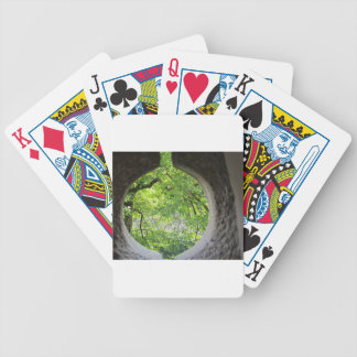 World view through hole bicycle playing cards