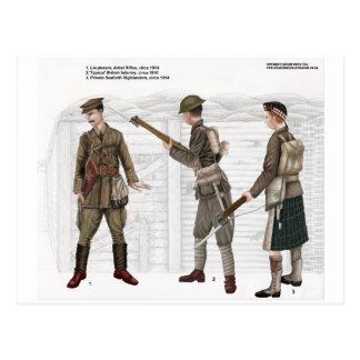 World War 1 British Infantry Postcard