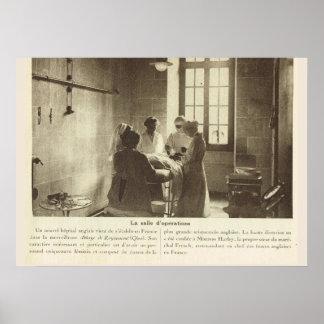 World War 1, France, Operating room Poster