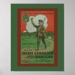 World War 1 Irish Canadian Rangers Military Poster