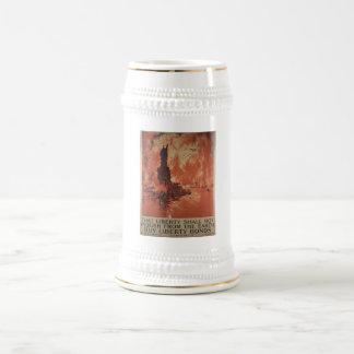 World War 1 Liberty Bonds Advertisement 1918 Beer Stein