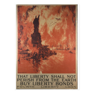 World War 1 Liberty Bonds Advertisement 1918 Postcard