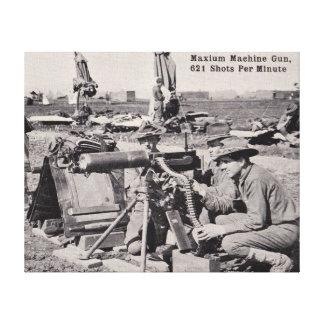 World War 1 Machine Gun Canvas Print