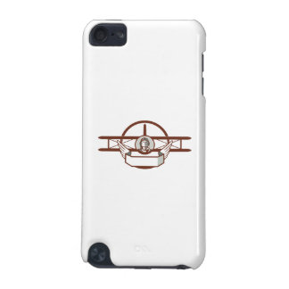 World War 1 Pilot Airman Spad Biplane Circle Retro iPod Touch (5th Generation) Cases