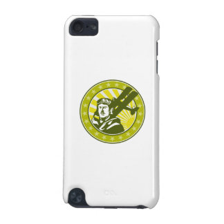 World War 1 Pilot Airman Spad Biplane Circle Retro iPod Touch (5th Generation) Covers
