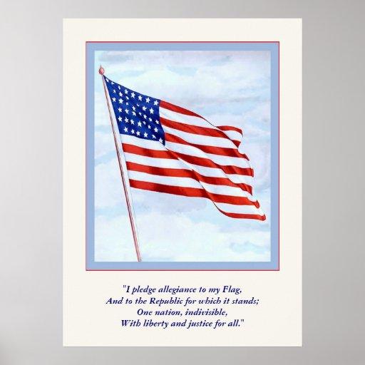 World War 1 Pledge Of  Allegiance ~ Vintage Poster