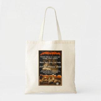 World War 1 Sheep Poster Advertisement Canvas Bag
