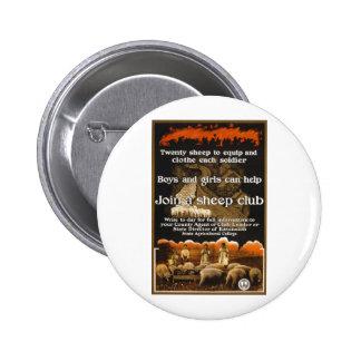 World War 1 Sheep Poster Advertisement Button