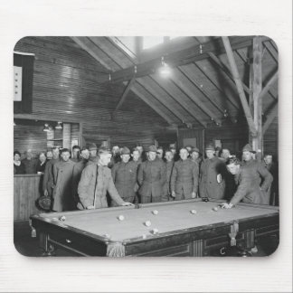 World War 1 YMCA Pool Hall, 1910s Mouse Pad