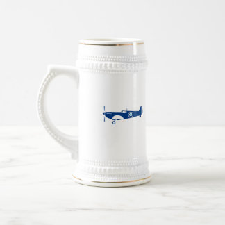 World War 2 Fighter Plane Spitfire Retro Beer Stein