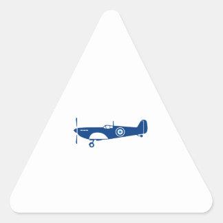 World War 2 Fighter Plane Spitfire Retro Triangle Sticker