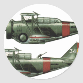 World War 2 Formation Flying Classic Round Sticker