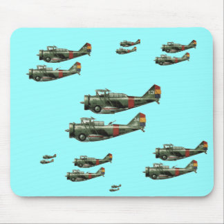 World War 2 Formation Flying Mouse Pad
